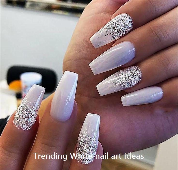 30 Simple Trending White Nail Design Ideas Whitenails Naildesigsn Ballerina Nails Fake Nails Nail Art Hacks