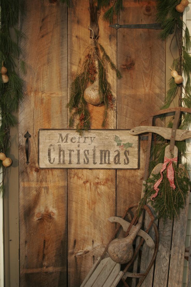 primitive christmas decorations pinterest