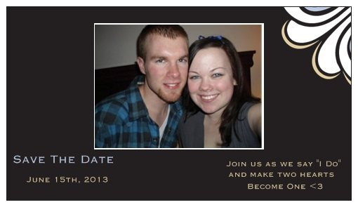 Our Save The Date Magnets<3