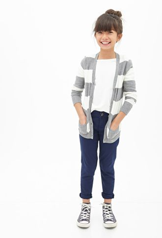 Possible for Millie-  Love the skinny chino's with a different sweater and ballet flats.