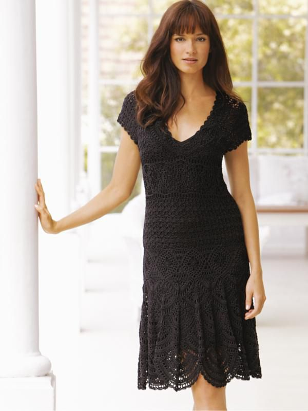 MyPicot | Free crochet pattern for a crochet dress #black #fashion