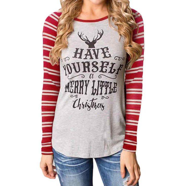 Autumn Women Little Christmas Casual Tee shirt //Price: $69.99 & FREE Shipping //     #hoodie #dress #beautiful #style