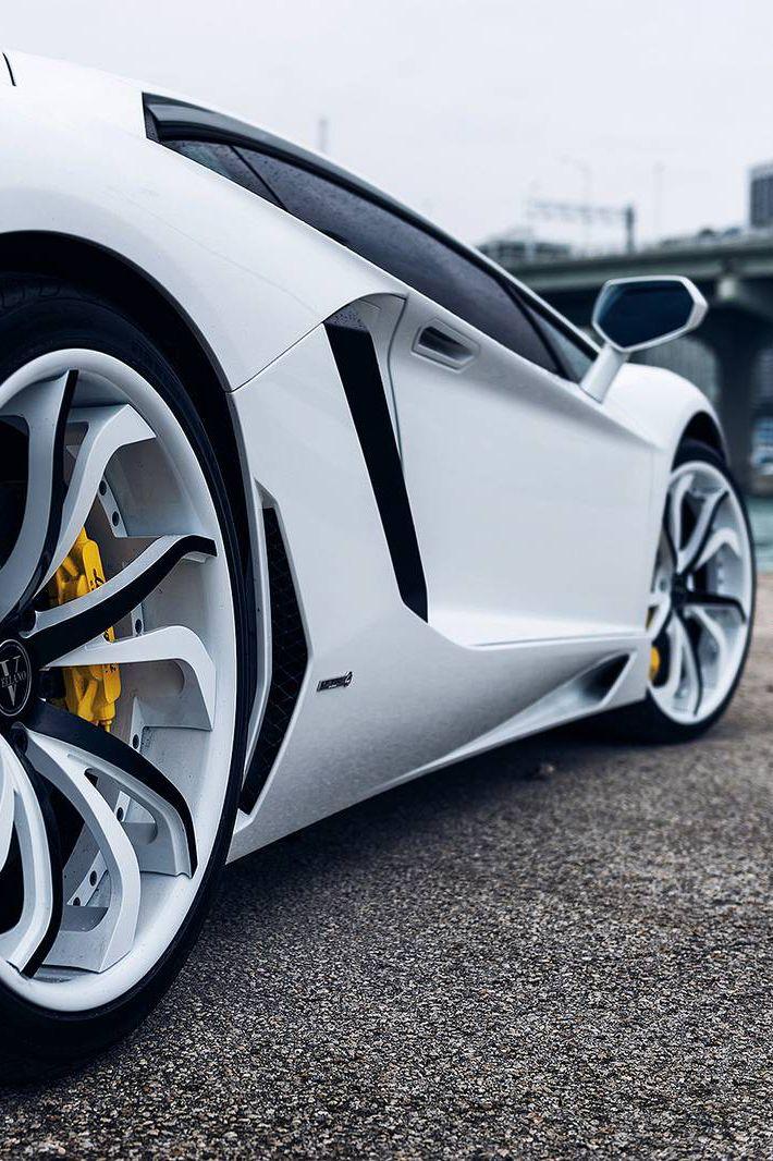 "re-disorganized: "" White Lamborghini Aventador on Vellano Wheels """