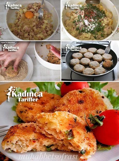 PATATESLİ TON BALIĞI KÖFTESİ TARİFİ http://kadincatarifler.com/patatesli-ton-baligi-koftesi