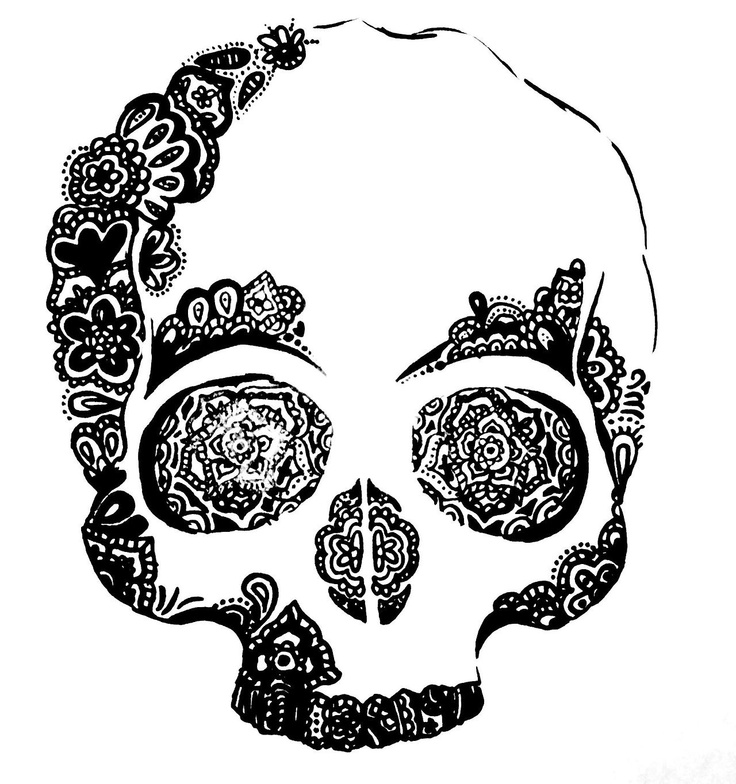 Beautiful skull. Would make a cute tattoo!
