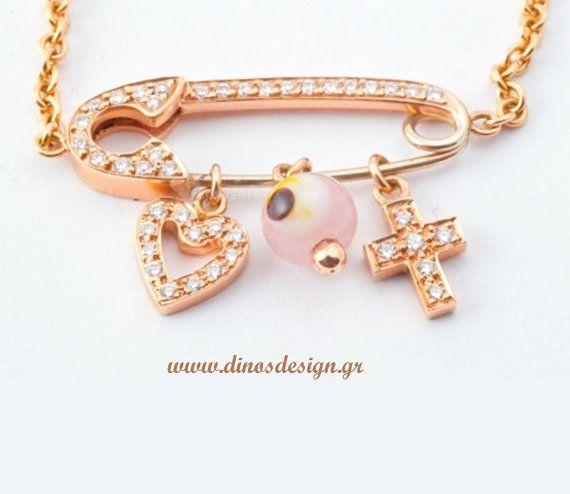 Pink Gold Bracelet. High Fashion Jewelry. Gift by DinosKoukiaris