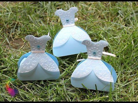 Frozen Dress Favor Box-Silhouette Cameo-Scatoline Vestito Elsa- Frozen P...