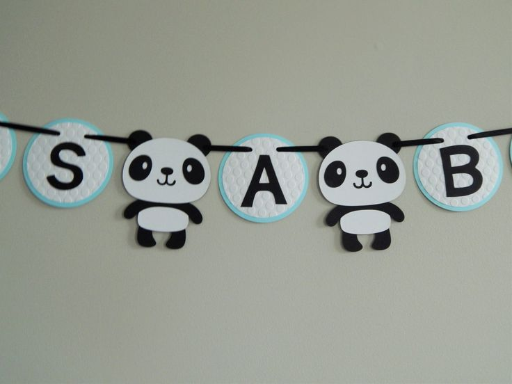 Panda Its A Boy Banner, Panda Party Decor, Panda Baby Shower Banner by OpulentOwlBoutique on Etsy