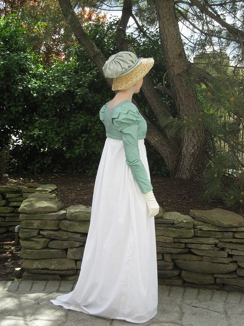 Regency gown, spencer jacket, and bonnet. Love each piece! Gorgeous!