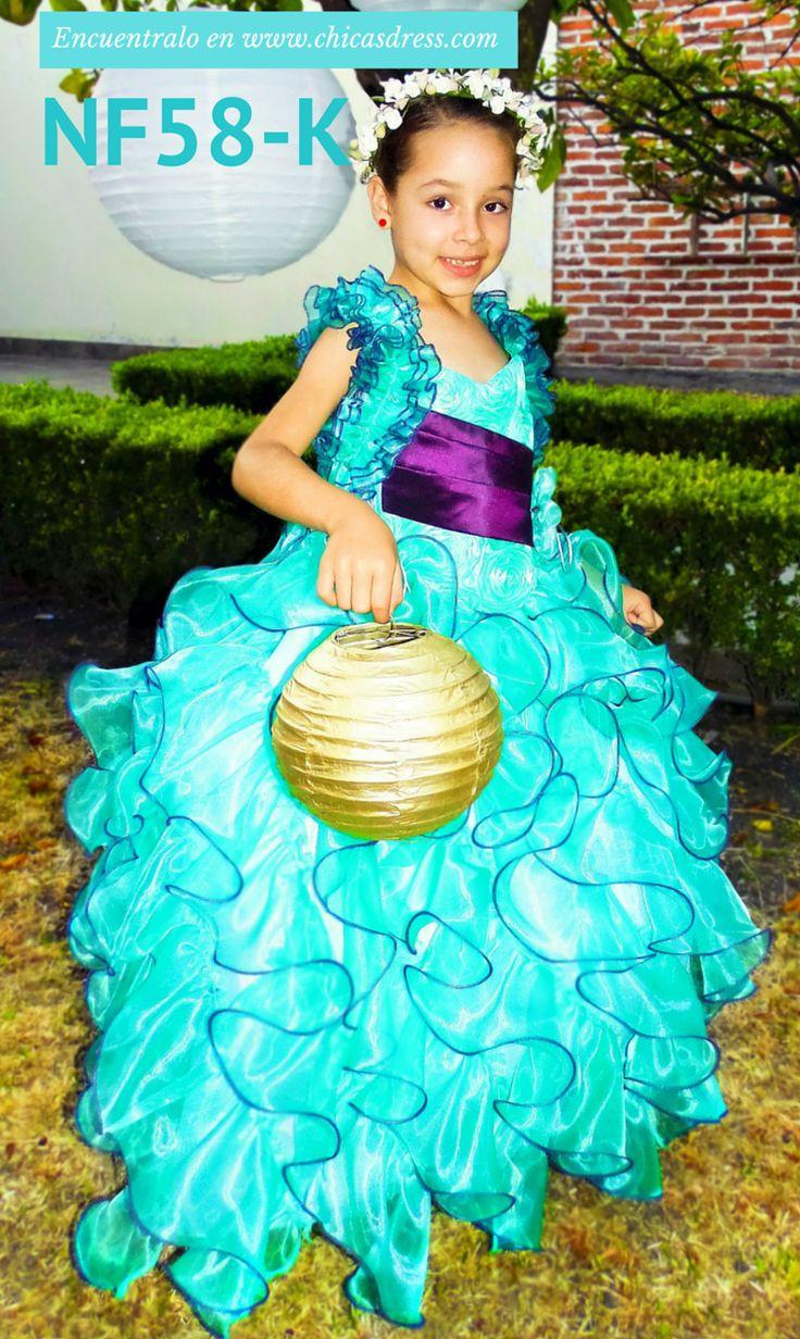 Hermoso modelo nf58-k encuentralo en http://chicasdress.com/infantil/87-nf58-k-vestido-de-nina-para-fiesta.html