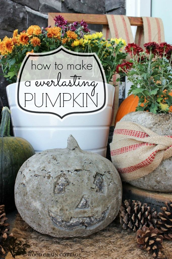 I don't know if i should laugh, think this is cool or be stunned because of weirdness! How to:: make a concrete pumpkin! easy, last forever pumpkin