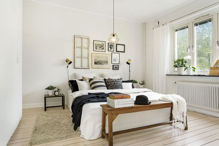 Plenty of natural light and texture | planete deco.fr | #bedroom