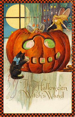 Vintage Halloween Images   Condition Free   Entirely Public Domain