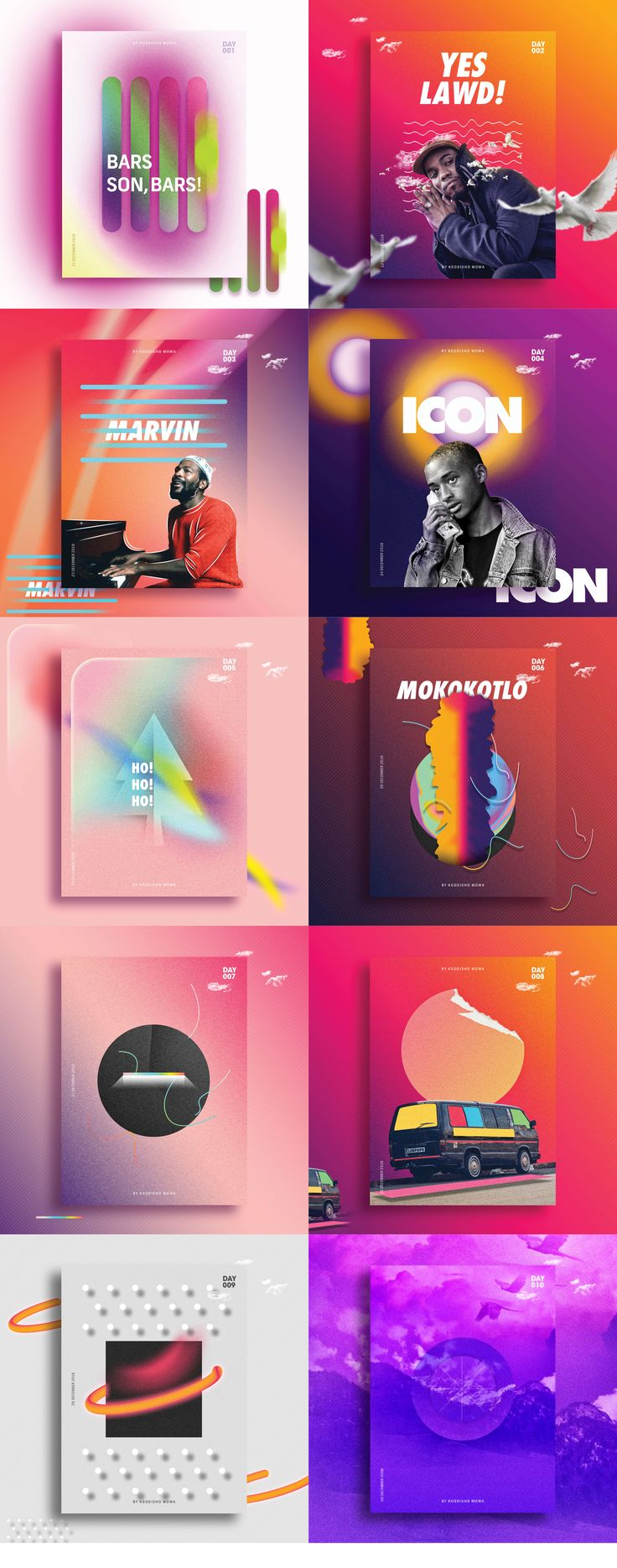"""Check out my @Behance project: """"10 Days Poster Collection"""" https://www.behance.net/gallery/60324223/10-Days-Poster-Collection #graphicdesign #design #art #behance #artdirection #color #colour #popart"""