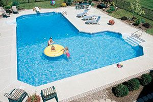 Grecian l shaped pool outdoor living pinterest pools for Grecian pool dimensions