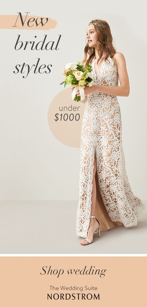 Discover dresses beautifully within budget, like this sequined Tadashi Shoji gown. No matter your bridal style or your budget, find the dress you've been dreaming of at the Nordstrom Wedding Suite.