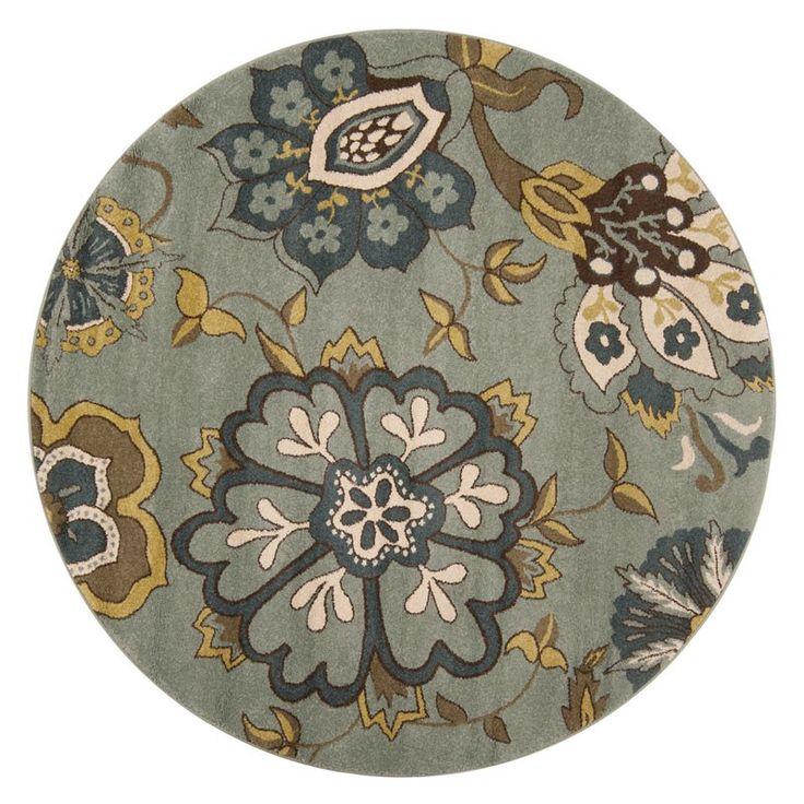 Surya // Monterey Slate Floral Round Area Rug