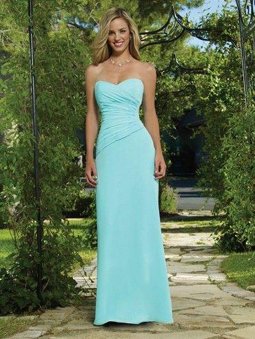 Sheath Sweetheart Long Light Sky Blue Bridesmaid Dresses BRD01907