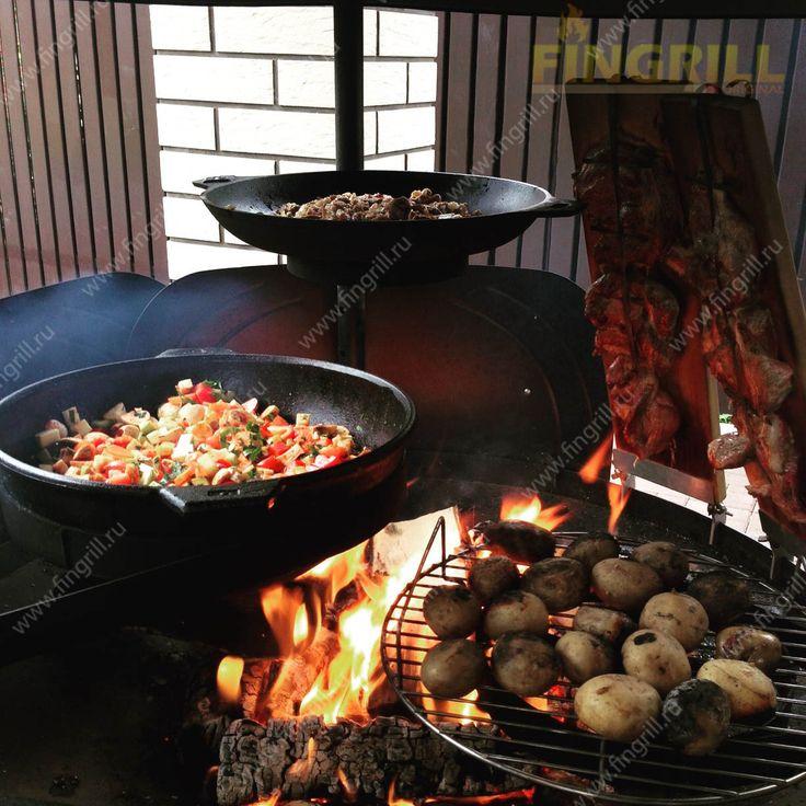 Приготовление ваших блюд на открытом воздухе. Ваш помощник - финский гриль барбекю. www.fingrill.ru