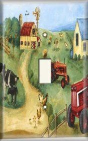 Snazzy Switch - The Farm - Light Switch Plate Cover, $8.99 (https://www.snazzyswitch.com/the-farm-light-switch-plate-cover/)