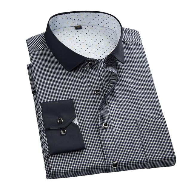 We love it and we know you also love it as well Uni-Splendor 2017 Men's Casual Plaid Shirt Long Sleeve Social Business Dress Shirts Men Slim Fit Shirt Plus Size S-4XL YN903 just only $13.59 with free shipping worldwide  #shirtsformen Plese click on picture to see our special price for you