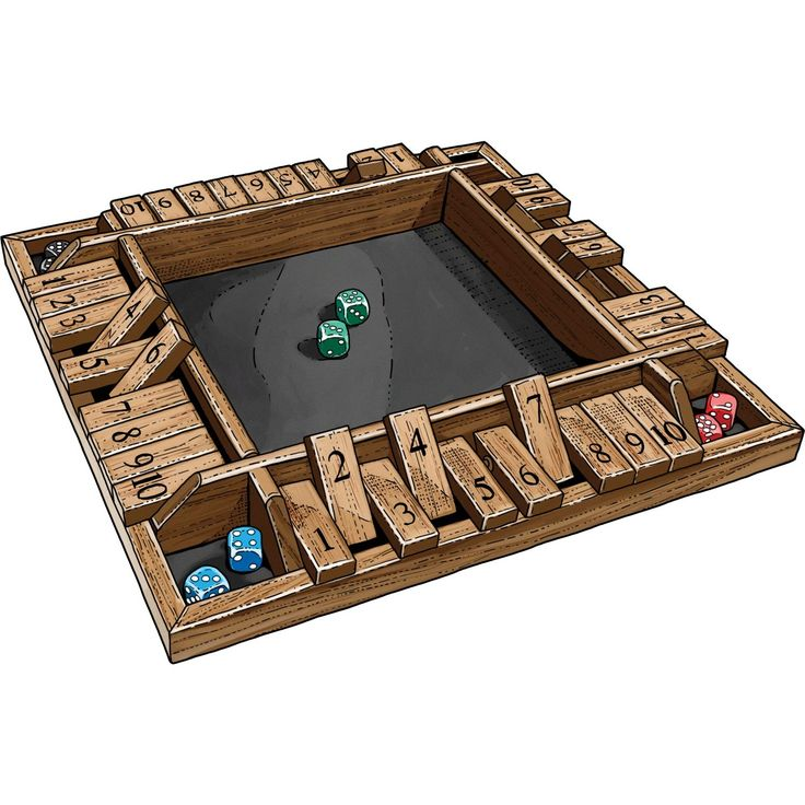 This version of the classic British game Shut the Box is built for 4 players and sure to be a great time for the whole family. From Duluth Trading.