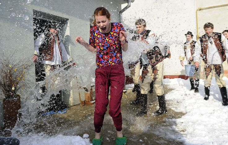 Slovakian Easter Tradition Sees Women Covered In Cold Water And Whacked With Sticks (PICTURES)