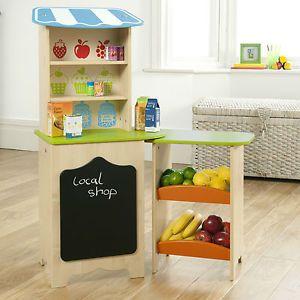 Childrens Wooden Toy Shop Play Market Stall Pretend Play Shop Supermarket | eBay