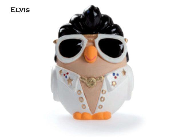 Il gufo Elvis di Egan è una divertente imitazione del Re del Rock and Roll, che per 20 anni ha fatto sognare con la sua musica. Prezzo: €  19,80. Visita il nostro sito  www.righouse.it per scoprire altri incredibili prodotti nel nostro shop on-line.