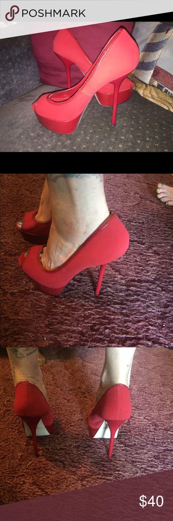 Penny & Kenny* Red stilettos size 8.5 Sexy red stilettos, size 8.5, by Penny & Kenny*....Gorgeous!💋 Penny & Kenny* Shoes Platforms