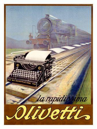 'La rapidissima Olivetti' - Poster by Ernesto Pirovano, 1923