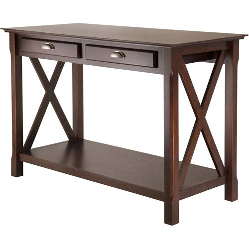 Xola Console Table with Drawers, Cappuccino