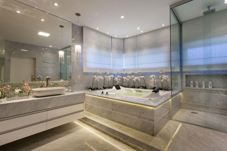 Fotos de banheiros modernos casa buriti -> Banheiros Decorados Por Iara Kilares