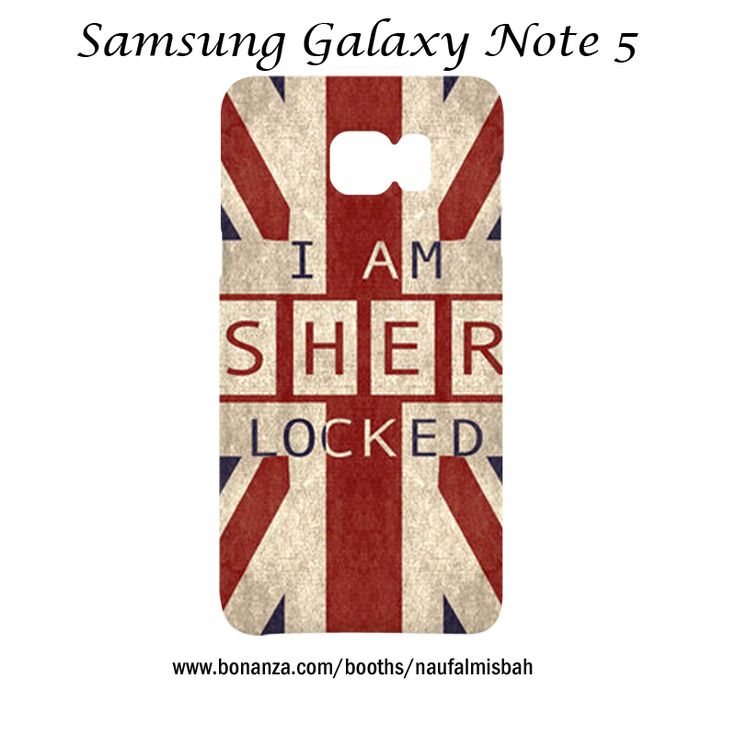 I am Sherlocked Samsung Galaxy Note 5 Case Cover Wrap Around