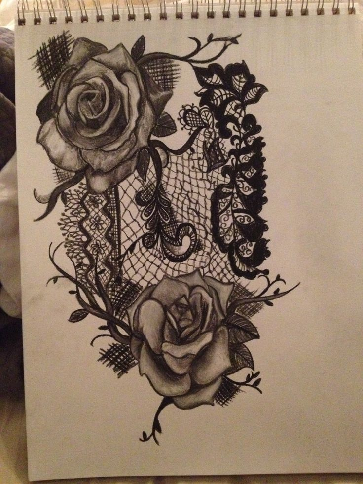 Rose with lace. sleeve idea