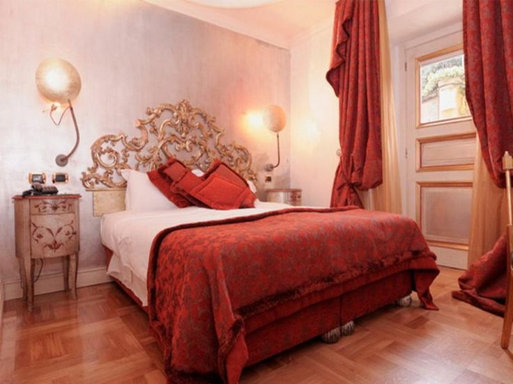 bedroom romantic bedrooms decorating with warm colors ideas two nighstand plus wall lamps floral pattern