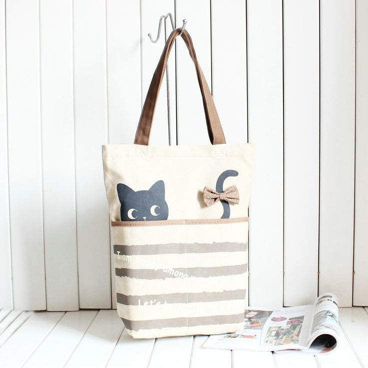 cute cat fishing canvas handbags, such acute cat tote. Crazy cat lady must have.