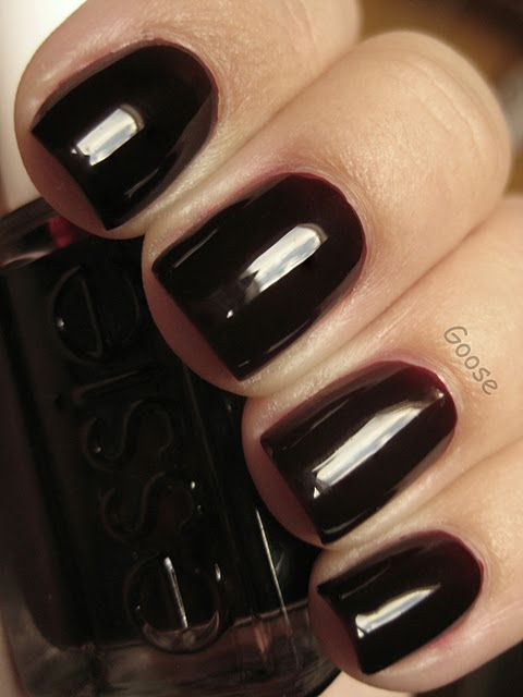 Essie ~ Wicked. Almost black but not quite.. kind of a dark burgundy or oxblood