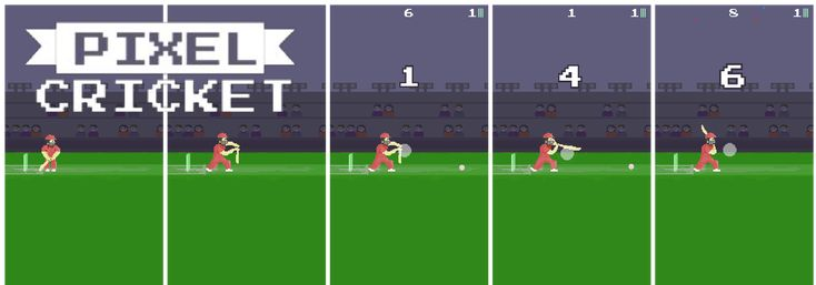 #Pixel #Cricket Game is a quick cricket #arcade #batting game where you score as much as runs.  For all the #cricketfans out there, this is a 3cricketgame you can play anywhere at anytime. No longer huge sessions of batting, #bowling, and #running between the wickets. Start Pixel Cricket, play quick sessions right away. A perfect way to fight your boredom. #Pixelart
