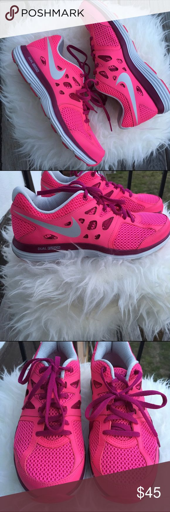 Nike Dual Fusion Sneakers Pink Nike Dual Fusion Sneakers. Like new! Nike Shoes Sneakers