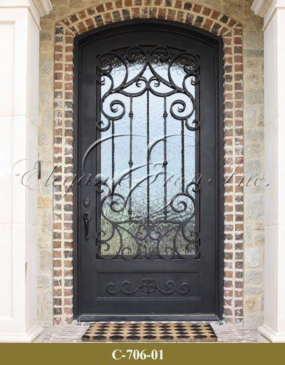 Wrought Iron Single Door