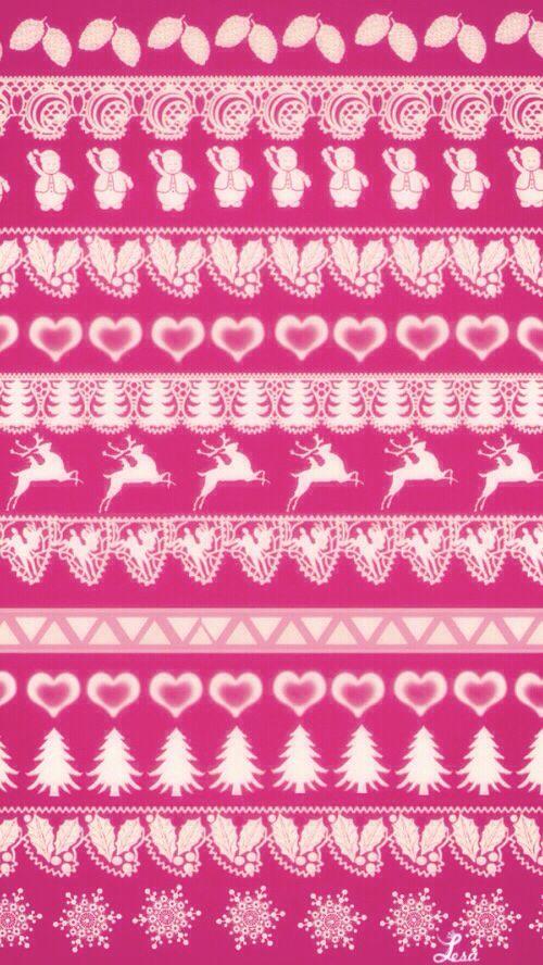 Fair Isle | Nordic alpine Ski wallpaper pink fairy lights #iphone ...