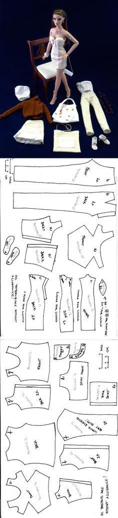Basic patterns for Revlon 13 doll | N. I. by T. F. (formerly Mildendo Magazine)