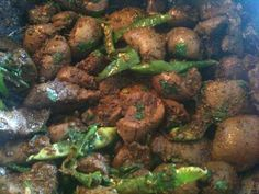 Spicy Lamb Liver And Kidney Fry - Indian Recipes & Indian Cooking
