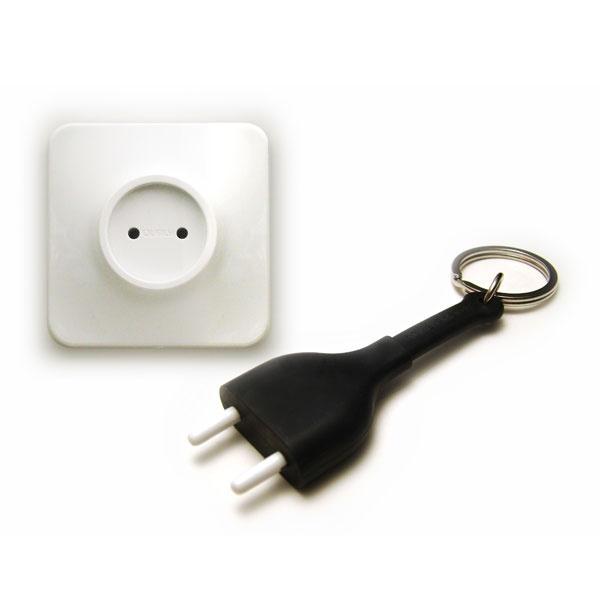 Nøglering og holder - unplugged - black