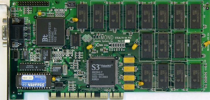 Diamond Stealth_64 PCI 2MVRAM un must pour son époque.
