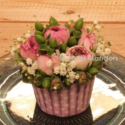 floral cupcake 100% calorie vrij