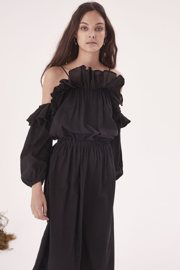 Steele - Savannah Midi Dress - Black