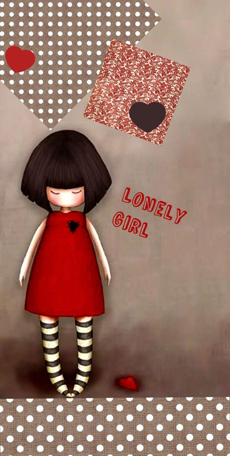 ,phone....lonely girl gorjuss Pinterest Lonely girl