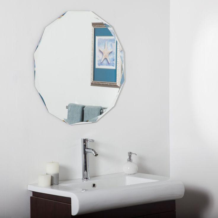 frameless diamond wall mirror by decor wonderland